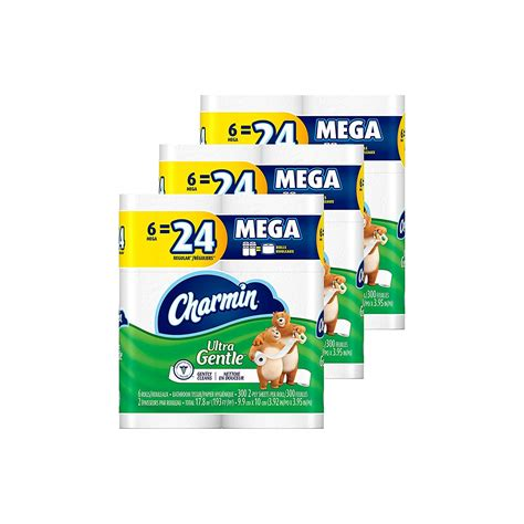 charmin ultra gentle toilet paper  mega rolls     shipped   coupon queen