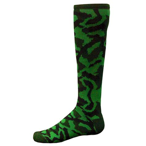 Camo Socks green camo knee high athletic socks youth or size