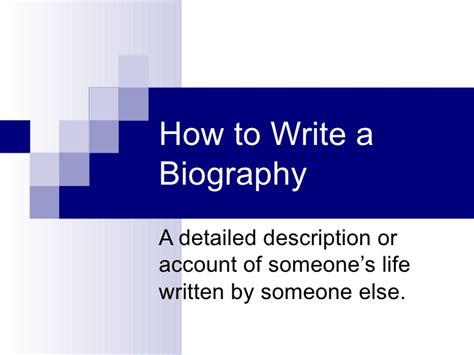 powerpoint biography analysis
