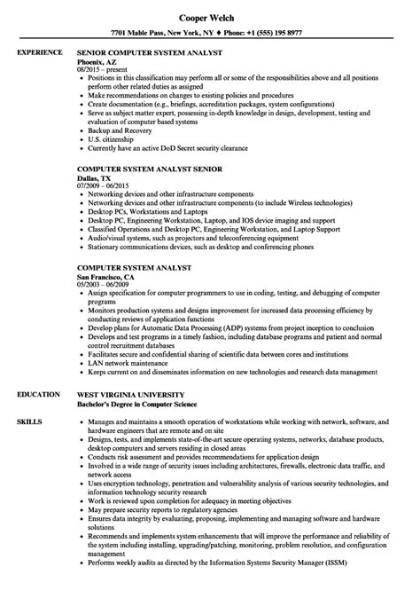 system analyst resume samples visualcv resume samples database