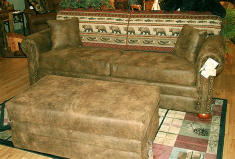 upholstered sofa with rustic fabrics rustic furniture