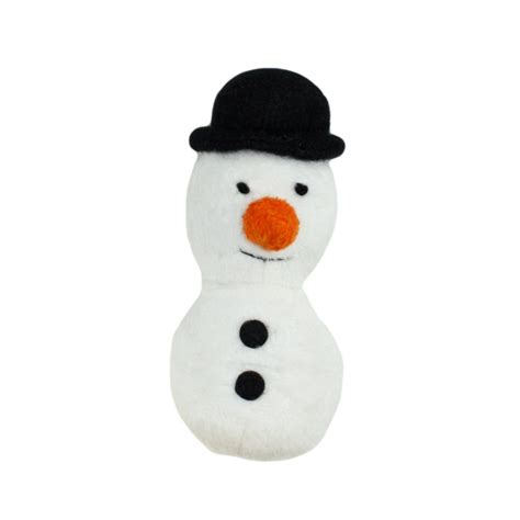 buy happypet festive refillable catnip snowman cat toy