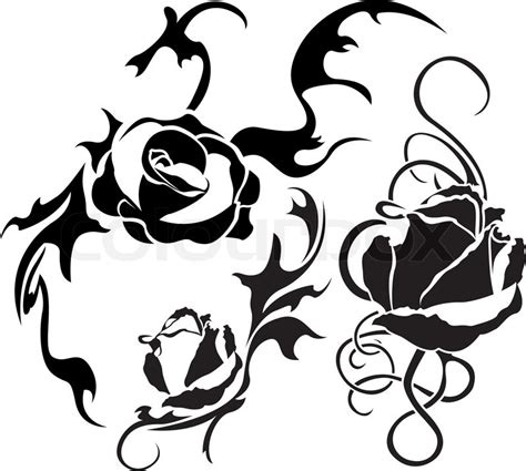 tattoo stencil paper wiki rose tattoo set illustration for web stencil stock
