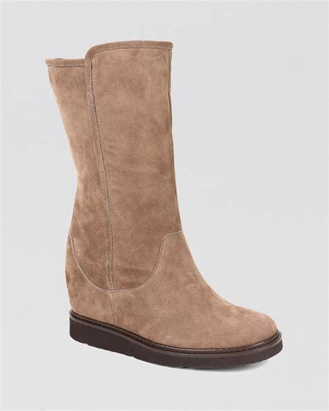 ugg wedge boots gisella in beige portabello