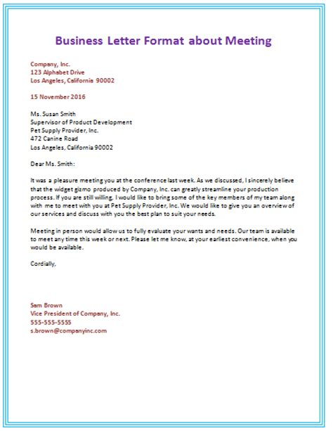 Business Letter Layout Example business letter format templates
