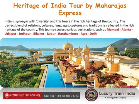 maharajas express gems of india tour will roll out on enjoy various destinations of india with maharajas express