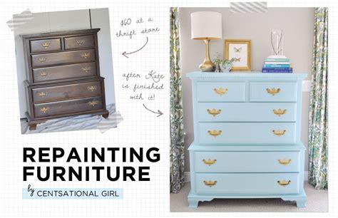 repainting furniture furniture rehab with centsational girl the everygirl