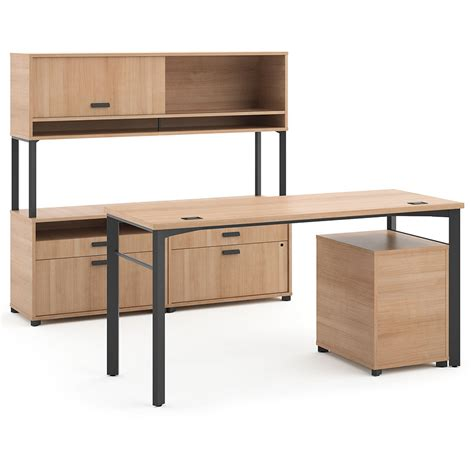modern desk set marlin modern executive desk set in wheat eurway