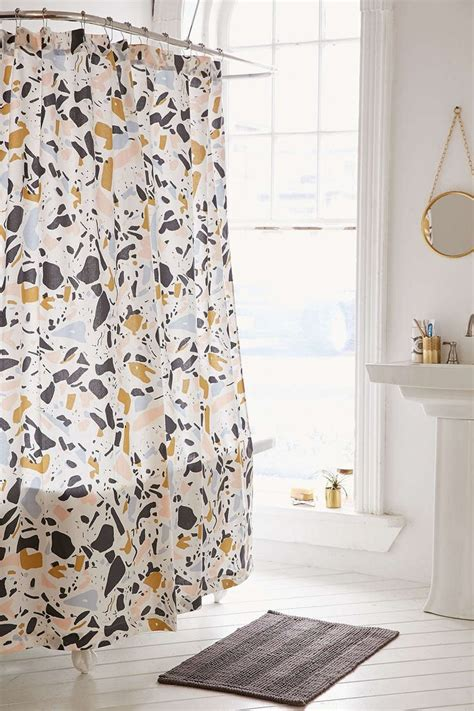 urban shower curtain killian terrazzo shower curtain urban outfitters it is