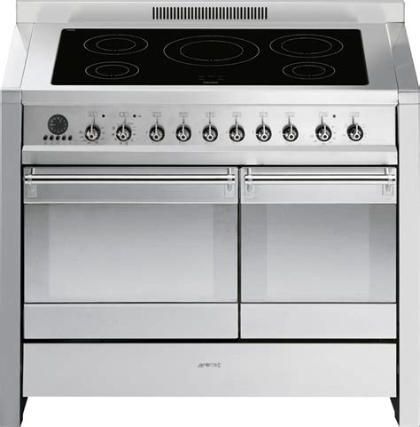 electric induction range cookers 100cm buy smeg opera a2pyid8 stainless steel 100cm electric induction range cooker a2pyid 8 marks