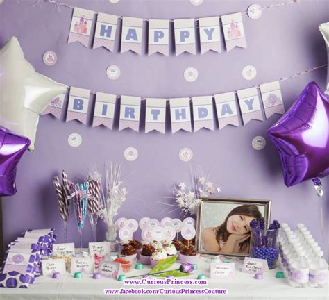 25th Birthday Party Decoration Ideas Purple Princess Birthday Party Ideas Curiousprincess