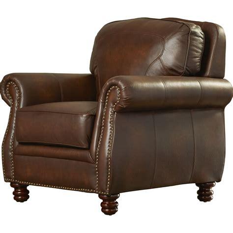 mcdonnell leather club chair wayfair