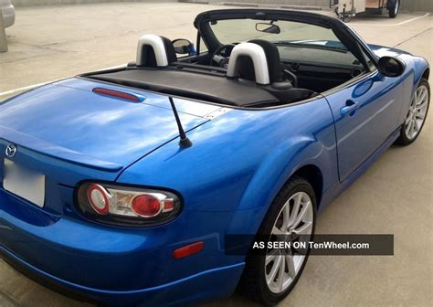 mazda convertible blue winning blue 2006 mazda mx 5 miata 6 speed sport