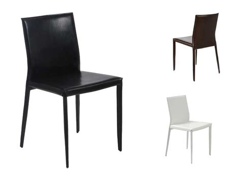 Shen Leather Dining Chair   Modern Chairs