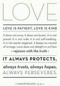 Corinthians 13 4 7 love is patient love is kind more