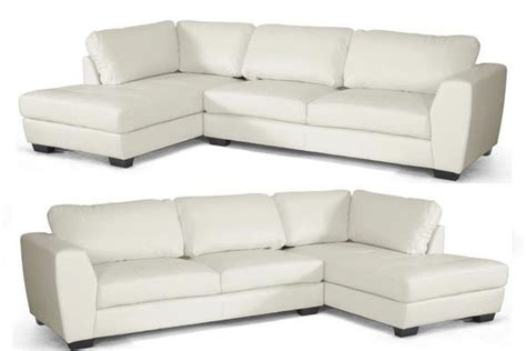 off white leather sectional sofa off white bonded leather modern sectional left or right