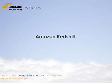 amazon redshift big data in the cloud with informatica cloud and amazon