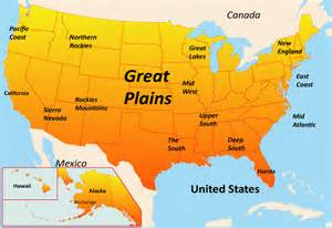 usa map great plains great plains map showing attractions accommodation