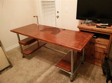 diy gaming computer desk custom diy industrial pipe desk for gaming and design