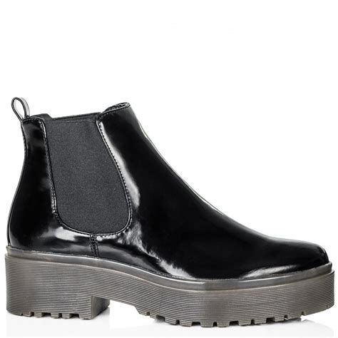 buy cable heeled cleated sole platform chelsea ankle boots