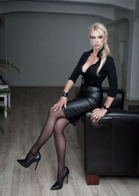 Tight Leather Skirts Stockings High Heels | shiny sluts tumblr