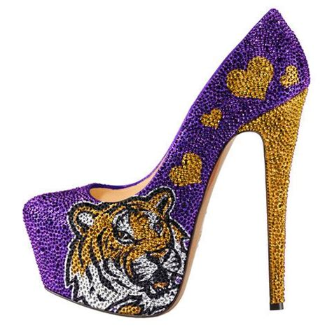 tiger high heels lsu tigers embellished flat sandals with
