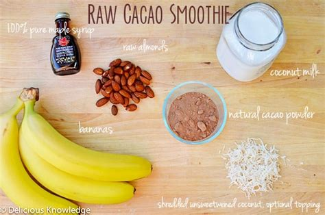 cacoa smoothie and pre workout smoothie