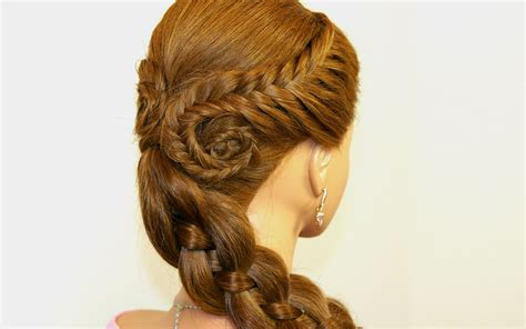 cute hairstyles with braids youtube easy hairstyle for long hair fishtail braids four 4