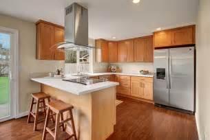 Kitchen Backsplash Ideas With Santa Cecilia Granite pecan shaker maple pius kitchen amp bath
