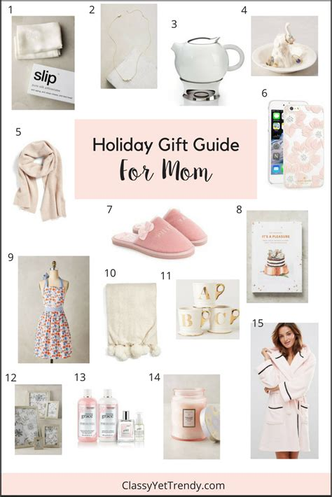 holiday gift guide for mom classy yet trendy