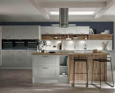 White Kitchen Laminate Flooring - fairford dove grey kitchen shaker kitchens howdens joinery