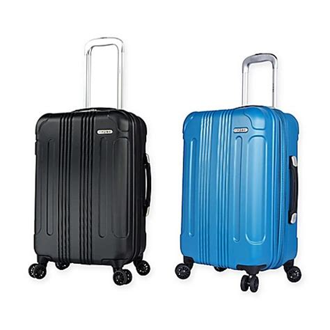 bed bath and beyond luggage travelers club 174 voyager ii hardside 20 inch spinner carry