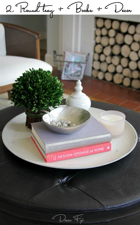 how to style a coffee table how to style a round coffee table decor fix