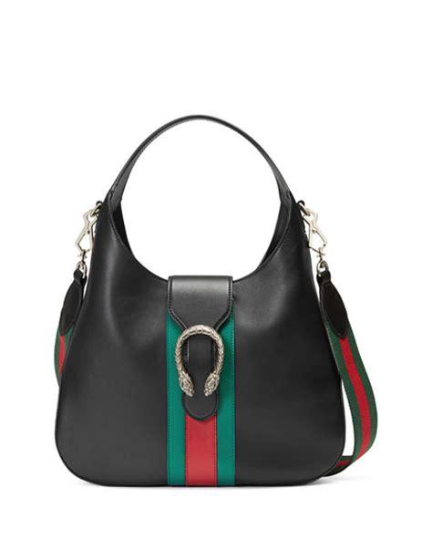 New Gucci Hobo Dionysus Medium Hardware Black Like Ori Leather G10208 gucci dionysus medium web stripe hobo bag black