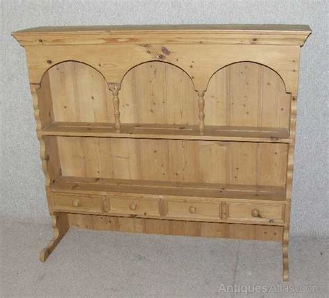 Wall Dresser Unit by Pine Wall Shelf Unit Plate Rack Dresser Top Antiques Atlas