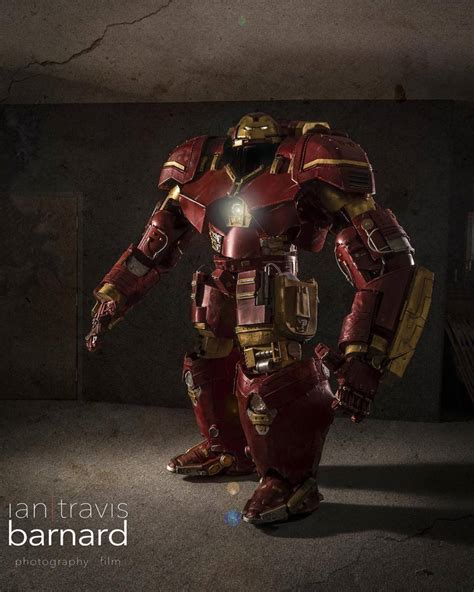 hulkbuster ironman costume  ft tall  shoots real