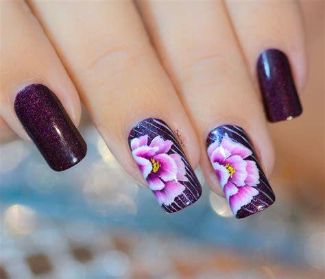 easy nail art one stroke nail art one stroke fleurs froiss 233 es nail art sakura
