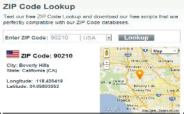 Zip Code Search Map by Free Tools Zipcodesoft
