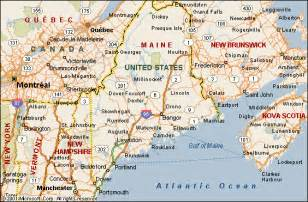 maine map and maine satellite images
