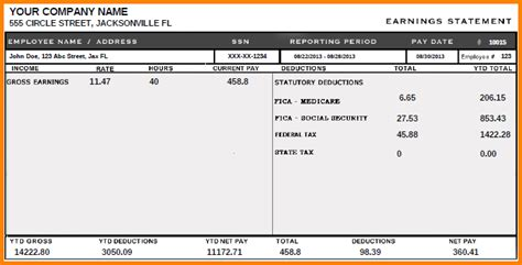 sle pay stub template 5 blank pay stubs template letter template word