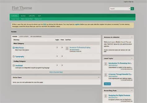 vbulletin themes colors 25 free and premium vbulletin themes webprecis