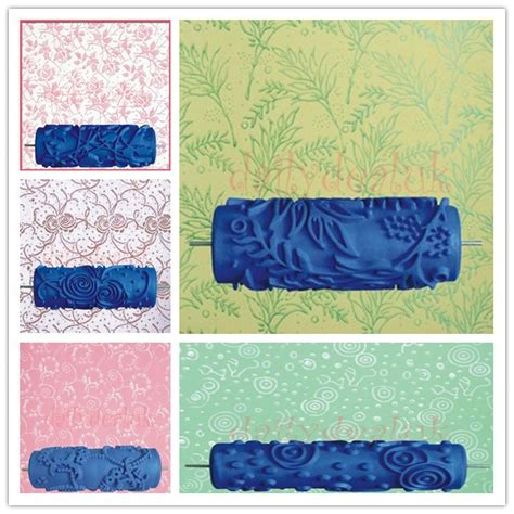 pattern roller diy 15cm 5 9 quot diy floral and dot pattern paint roller for wall