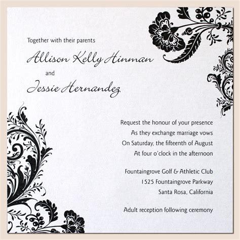 black and white wedding invitation designs amazing wedding invitation designs designs for wedding