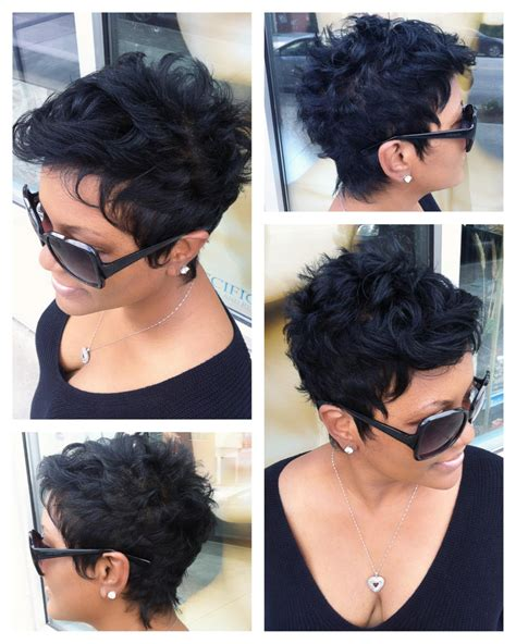 weave styles for growing out a pixie cut short quick weave hairstyles for black women atlanta ga