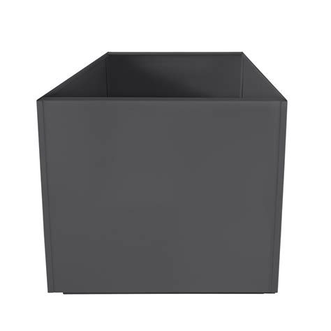 charcoal grey square 20 inch metal planter box large
