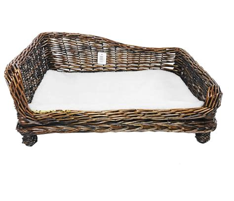 wicker dog bed brown large big huge xl dogs wicker pet bed basket seat