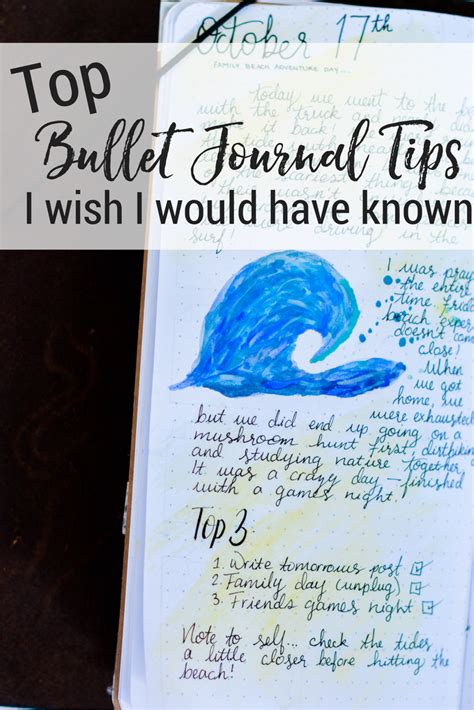 top bullet journal tips i wish i would known