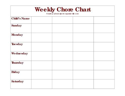 house chart template template house chores template free printable chore