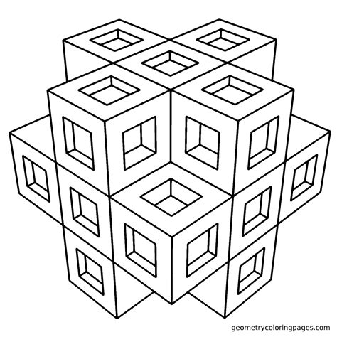 coloring pages adults geometric free coloring pages of 3d for adults