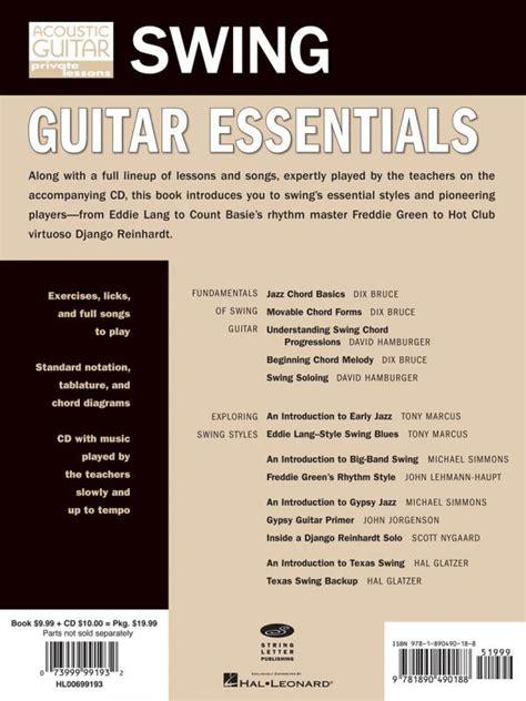 minor swing guitar lesson acoustic magazine swing guitar essentials cd tablature